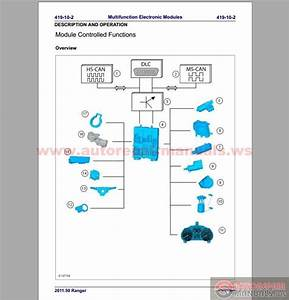 Ford Ranger 2011 50my Workshop Repair Manual