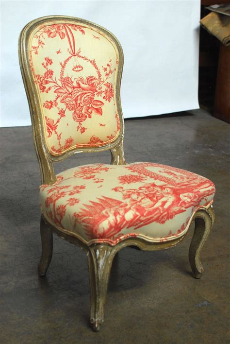 19th century louis xv toile slipper chair for sale at 1stdibs