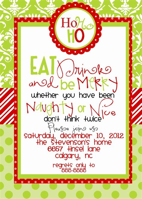 Lunch Invitation Template Free Luxury Christmas Lunch in