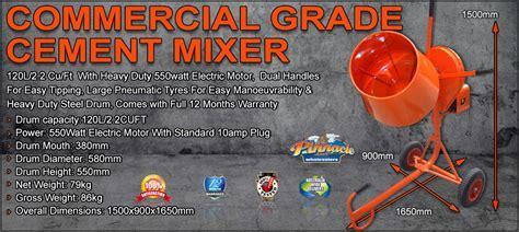 commercial grade cement mixer