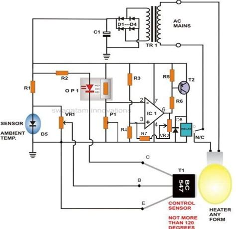 Incubator Thermostat Circuit With Hysteresis Control