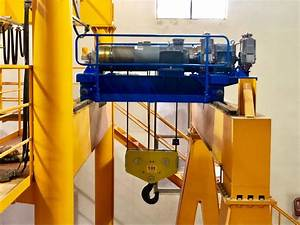 Crane Electric Wire Rope Trolley Hoist Slow Electric