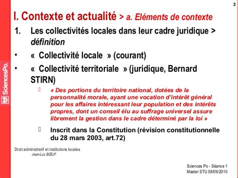 definition de cadre juridique droit administratif et institutions locales jean luc boeuf