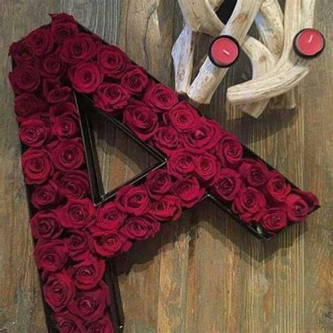 pin  asfiya ahmed   flower letters flower box gift
