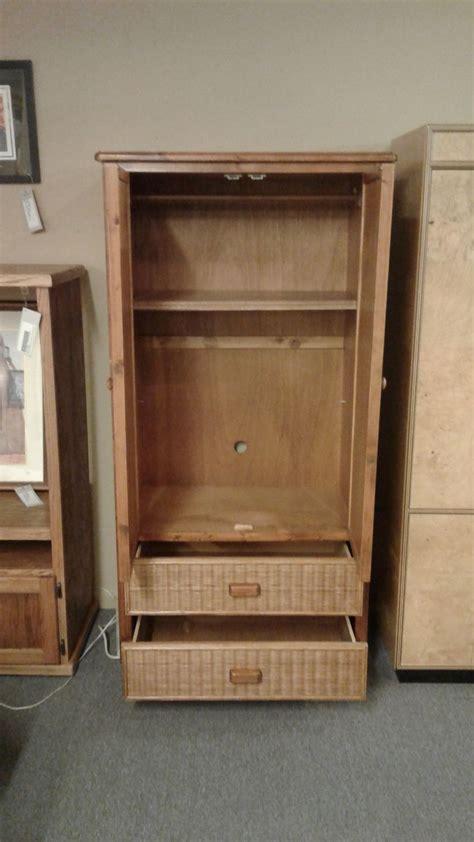 wicker wood wardrobe armoire delmarva furniture consignment