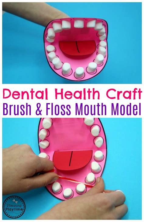 preschool dental health planning playtime 592 | Preschool Dental Health Craft Mouth Model for Brushing and Flossing.