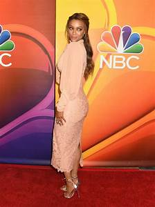 TYRA BANKS at NBC Summer Press Tour in Los Angeles 08/03 ...