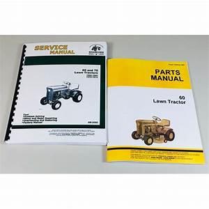 Service Manual Set For John Deere 60 Lawn Tractor Garden