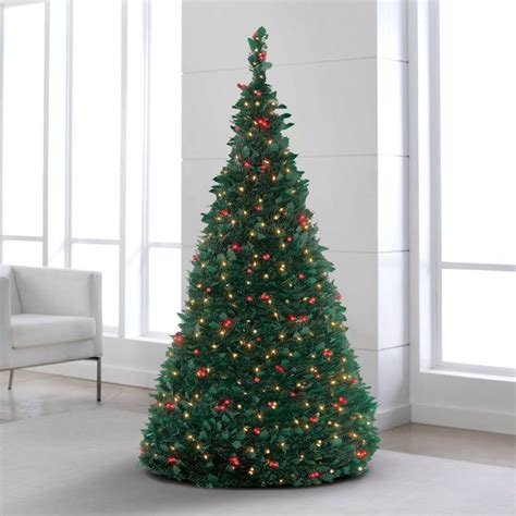 electric pre lit pull  christmas tree