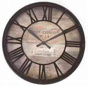 Horloge De Gare : pendule horloge style horloge de gare ~ Teatrodelosmanantiales.com Idées de Décoration