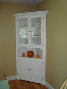 White Corner Kitchen Cabinet by 1000 Ideas About Corner China Cabinets On