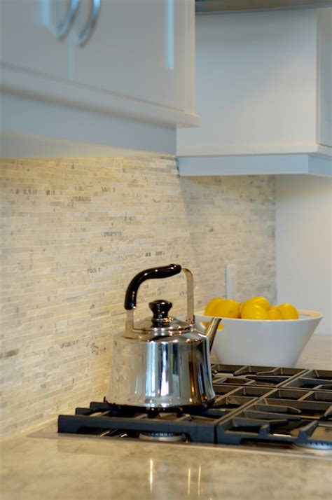 split marble backsplash contemporary kitchen