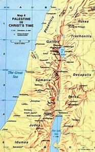 Map of ancient Palestine at the time of Christ | All About ...