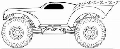 Monster Truck Coloring Colorear Transportation Drawing Drawings