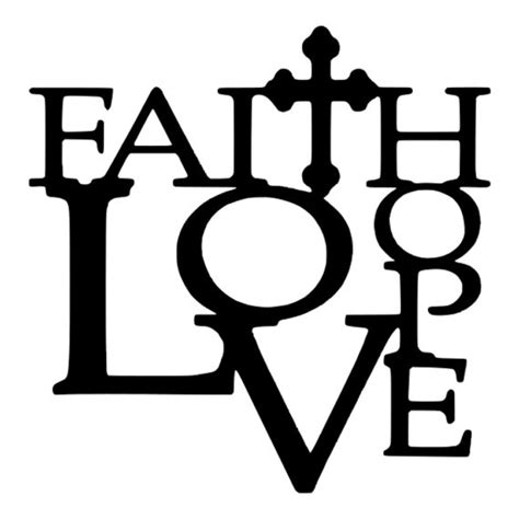 I thought this would look great with gold foil on a black tote. SVG Faith Hope Love DXF EPS Faith Quote Love Quote