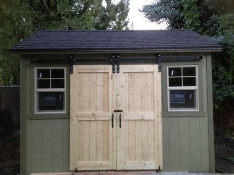 sliding shed door hardware shed with sliding doors door v groove sliding