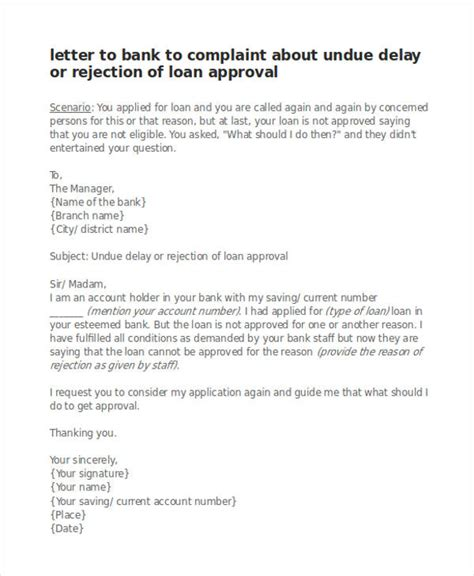 Complaint Letter To The Bank Template by Exle Of Complaint Letter To A Bank