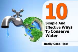 Ways to Save and Conserve Water