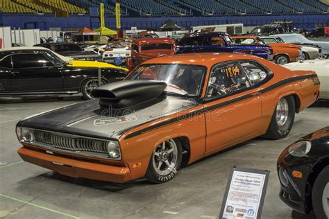 Plymouth Duster Drag Car Editorial Photography
