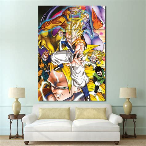dragon ball z anime block giant wall art poster