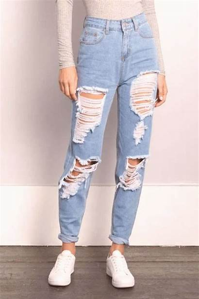 Jeans Ripped Mom Pants Rue21 Leg Destroyed