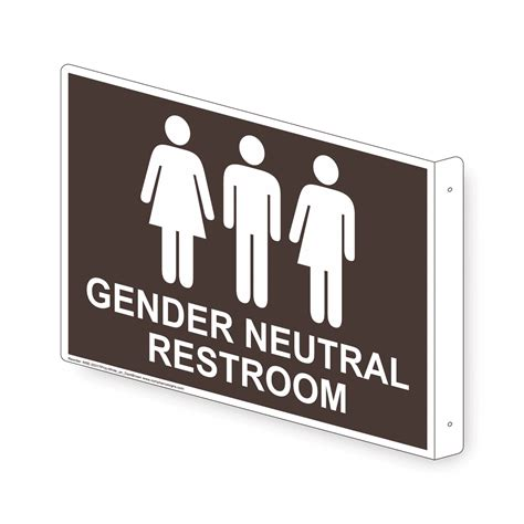 Gender Neutral Restroom Sign Rre25317projwhtondkbn Restrooms