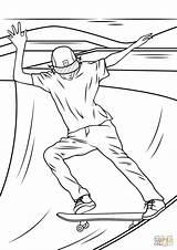 Skateboard Ramp Skateboarder Rampe Ramps Entitlementtrap Kolorowanka Jazda Deskorolce Drukuj sketch template