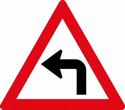 Curve Sharp Left Road Signs Ahead W205