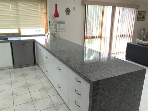 oriental white granite kitchen benchtop install