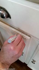 How To Touch Up Chipped Cabinets With A Paint Pen