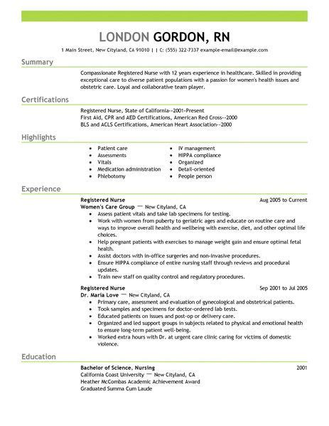 Best Nursing Resume Template by Registered Resume Exle To Learn The Best Resume