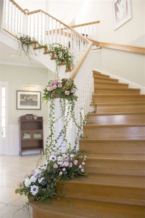 flower floral decor decoration garland staircase idea