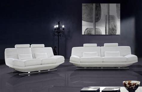 viper white leather sofa set adjustable headrests