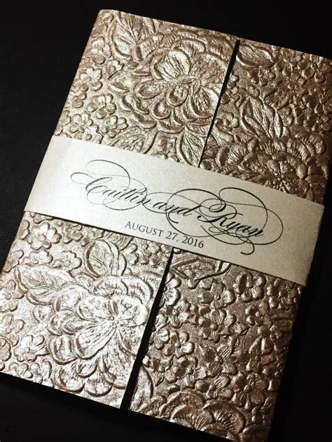 Embossed Wedding Invitation Elegant Wedding Invitations