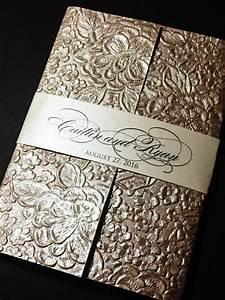 embossed wedding invitation elegant wedding invitations With elegant sparkly wedding invitations