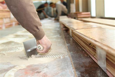 installing wood flooring  concrete reclaimedfloorsnet