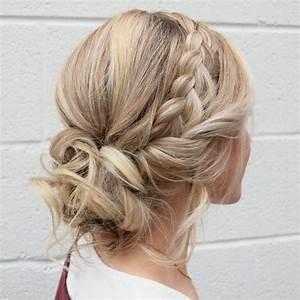 Chignon Demoiselle D Honneur Mariage : 1001 id es de coiffure demoiselle d 39 honneur jolie et romantique ~ Melissatoandfro.com Idées de Décoration
