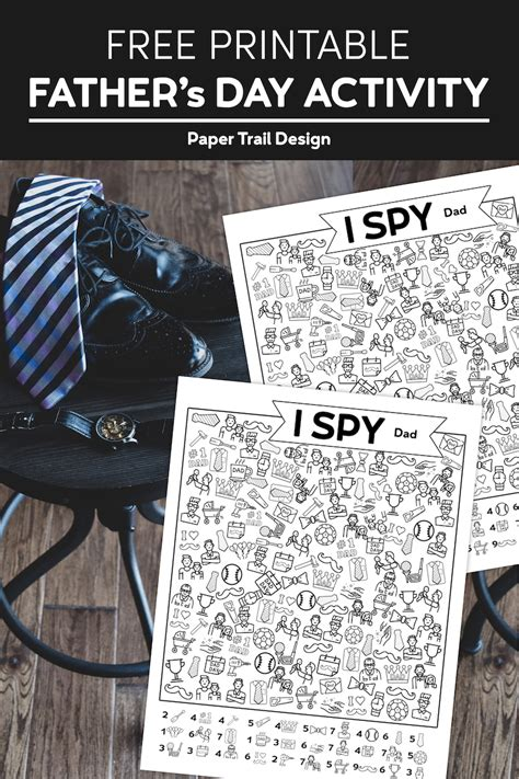 printable  spy fathers day activity paper trail
