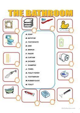resultado de imagen  bathroom worksheets  imagens