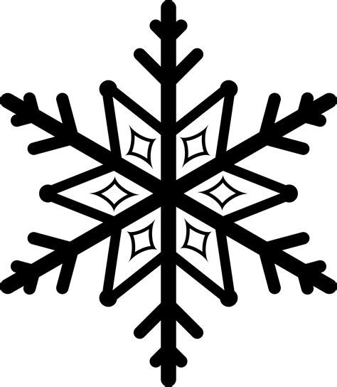 collection of free snowflake transparent silhouette