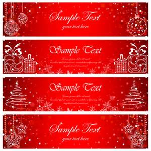 christmas banners cards 16 free vector graphic download