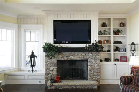 beadboard wall  fireplace  tv google search