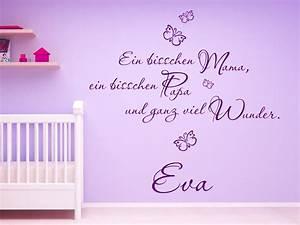 Wandtattoo Baby Mädchen : verspieltes wandtattoo mama und papa von ~ Markanthonyermac.com Haus und Dekorationen