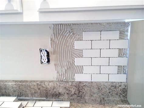 How To Put Up Tile Backsplash In Kitchen by Best 25 Kitchen Backsplash Diy Ideas On