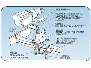 63-82 Transmission Mount Bolt Set