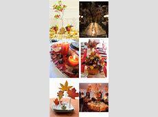 Autumn wedding ideas – Decorate with autumn foliage