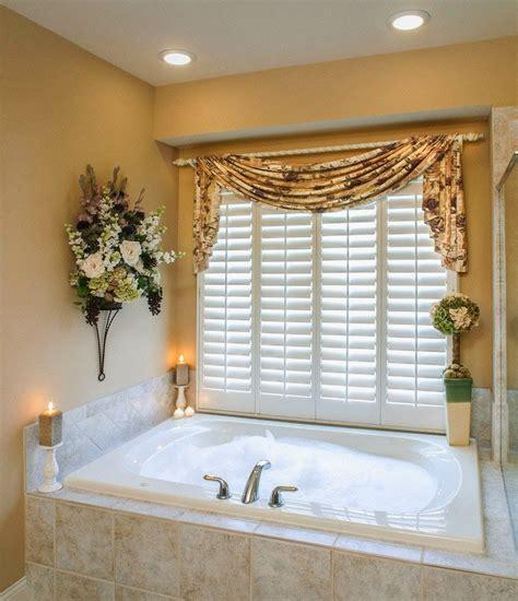 curtain ideas bathroom window curtains  attached valance
