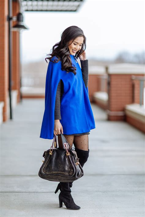 superpower cape coat polka dot tights color chic