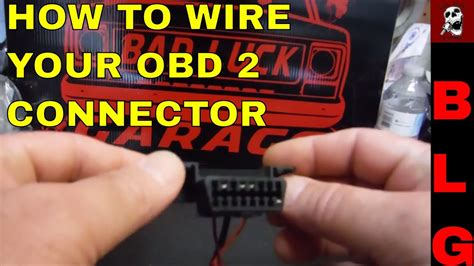 Obd Connector Wiring For Swaps Youtube
