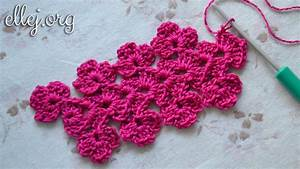 Flower Chart In English How To Crocheted Flower Lace Or Edging Free Step By Step